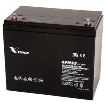 Аккумуляторная батарея Vision 12V 55Ah