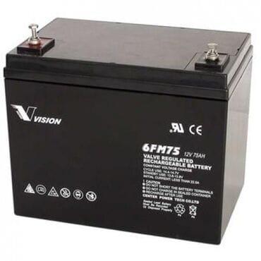 Аккумуляторная батарея Vision 12V 75Ah