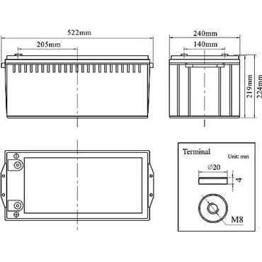 Аккумуляторная батарея SANTAKUPS FCG 12-200